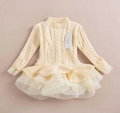 Sweater Dress ~ Ivory