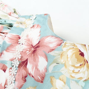 Pale Blue Floral Dress