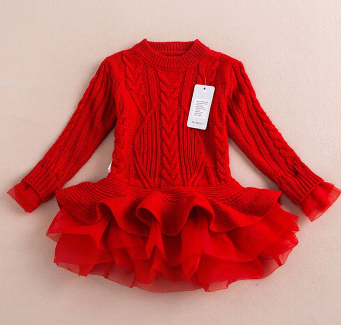 Sweater Dress ~ Red