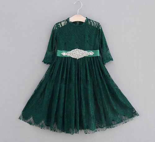 Luna Dress ~ Emerald