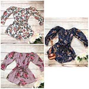 Isabella Floral Rompers