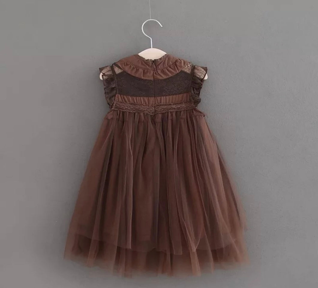 Celine Dress ~ Brown