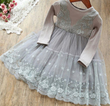 Load image into Gallery viewer, Melanie Lace Dress Gray