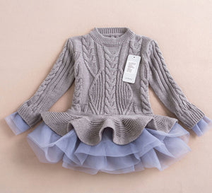 Sweater Dress ~ Gray