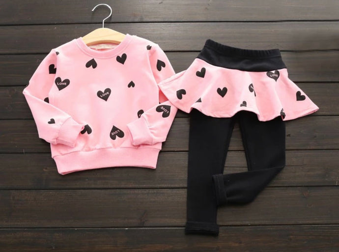 Heart Printed Sets ~ Pink