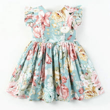 Load image into Gallery viewer, Pale Blue Floral Dress