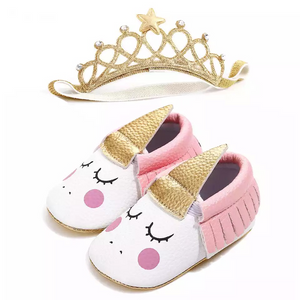 Unicorn Moccs With Headband