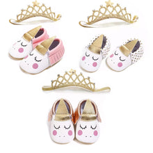 Load image into Gallery viewer, Unicorn Moccs With Headband