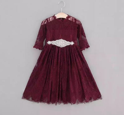 Luna Dress ~ Wine