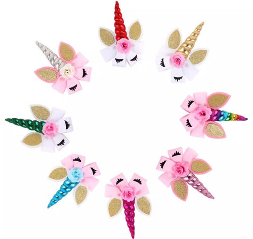 Unicorn Hair Clips
