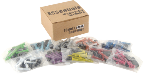 "Essentials 10/Pk Assorted Color 1"" Hardware  