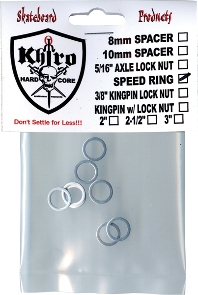 Khiro Speed Ring Washers 8pcs  | Universo Extremo Boards Skate & Surf