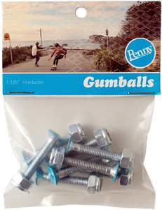 "Penny Gumball 1 1/8"" Phillips Cyan Skateboard Hardware 1set  