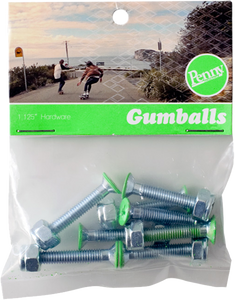 "Penny Gumball 1 1/8"" Phillips Green Skateboard Hardware 1set  