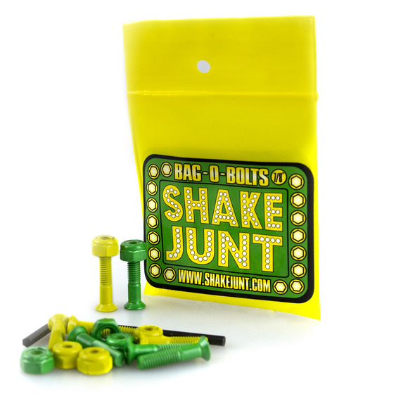 Shake Junt Bag-O-Bolts All Green & Yellow 7/8
