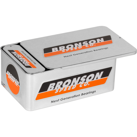Bronson G3 Bearings 10/Pack Tin with Spacers+Washers  | Universo Extremo Boards Skate & Surf