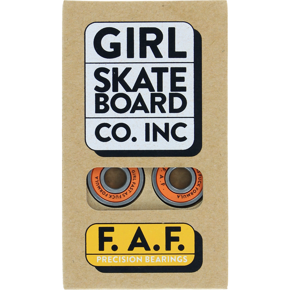 Girl F.A.F. Bearings Silver/Orange