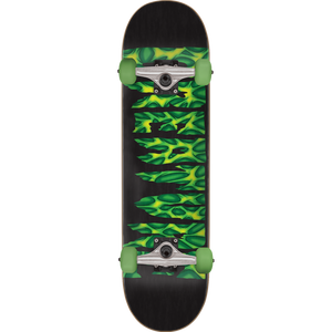 Creature Strains Complete Skateboard -8.0 Black/Green