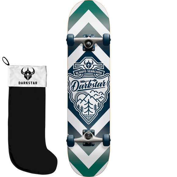 Darkstar Lockup W/Stocking Complete Skateboard -7.87 Blue/White/Green