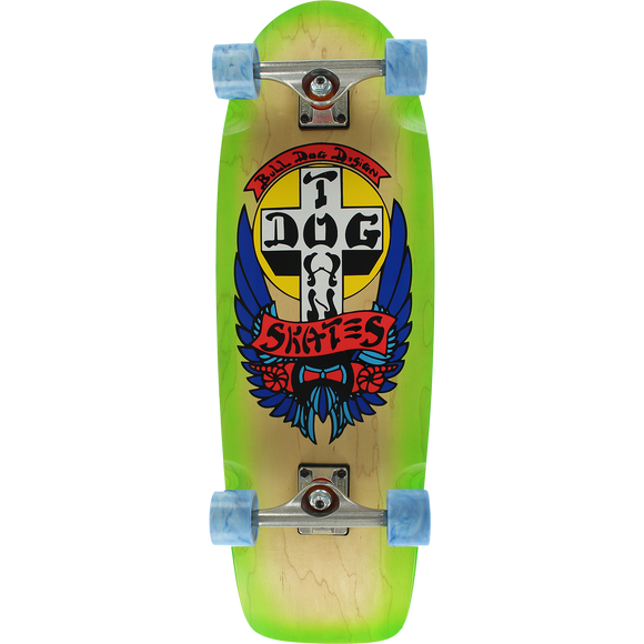 Dogtown Bull Dog Rider Complete Skateboard - 10x30.57 Natural/Green Fade
