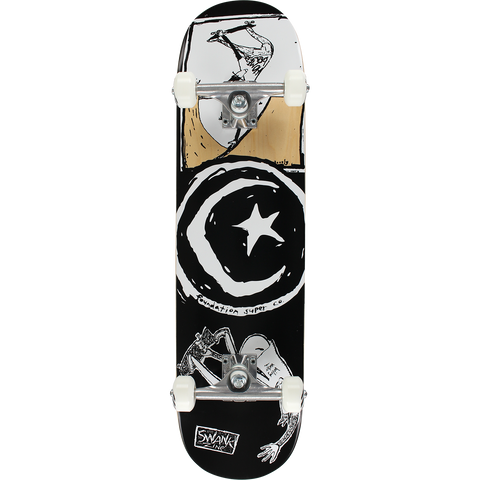 Foundation Star & Moon Boiling Water Complete Skateboard -8.0