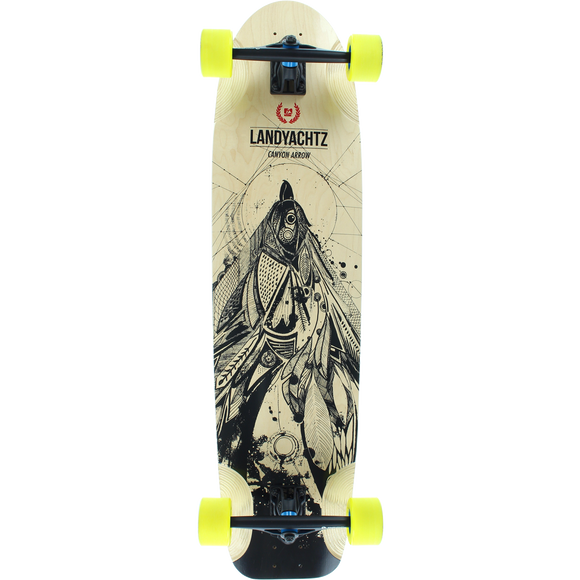 Landyachtz Canyon Arrow Bird Complete Longboard Skateboard -9.5x37 Natural/Black | Universo Extremo Boards Skate & Surf