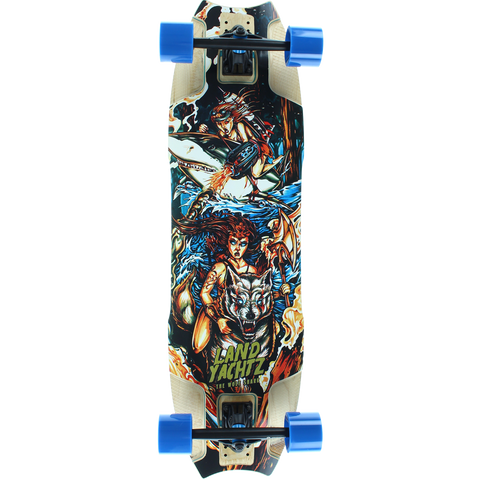 Landyachtz Wolf Shark Warrior Woman Complete Longboard Skateboard -10x35.5 | Universo Extremo Boards Skate & Surf