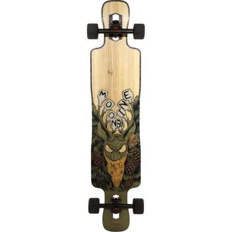 Moonshine County Line Soft-Flex Complete Longboard Skateboard -9.5x43.75 Natural | Universo Extremo Boards Skate & Surf