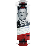 Moonshine Rum Runner Convict Complete Skateboard -10x35 Wt/Black/Red