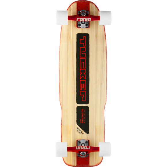Moonshine Tucker Complete Longboard Skateboard -9.75x33 Natural/Black/Red | Universo Extremo Boards Skate & Surf
