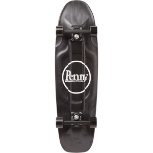 "Penny 32"" Blackout Logo Cruiser Complete Skateboard Black/White"