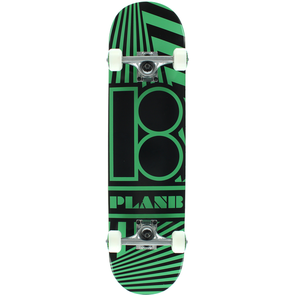 Plan B Angular Complete Skateboard -7.7 Black/Green | Universo Extremo Boards Skate & Surf