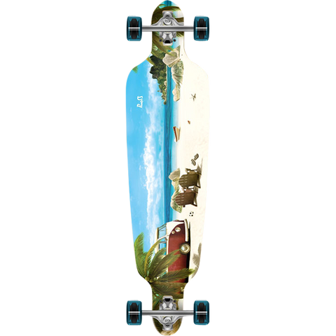 Punked Drop Through Complete Longboard -9x41.25 Getaway