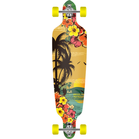 Punked Drop Through Complete Longboard Skateboard -9x41.25 Tropical Day