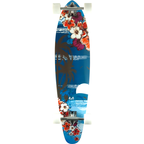 Punked Kicktail Complete Skateboard -10x40 Tropical Night