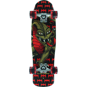 Powell Peralta Cab Dragon Mini Complete Skateboard -8x29.5 Black/Red
