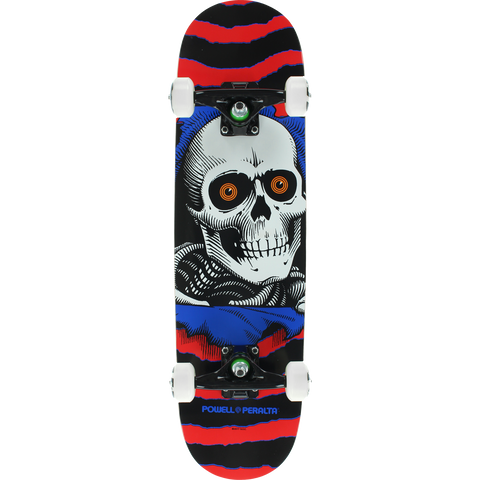 Powell Peralta Ripper Complete Skateboard -7.5 Red/Black/Blue/White