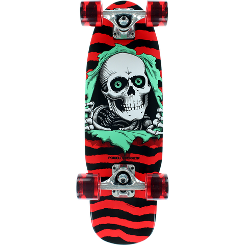 Powell Peralta Ripper Micro Mini Complete Skateboard -7.5x24 Red