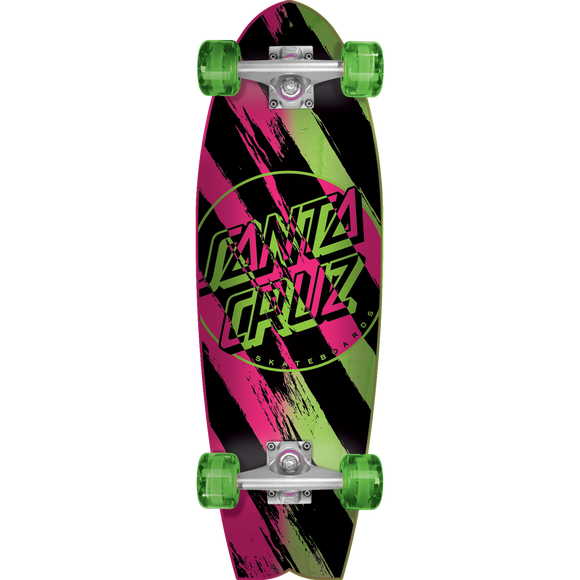 Santa Cruz Brush Dot Complete Skateboard -8.8x27.7