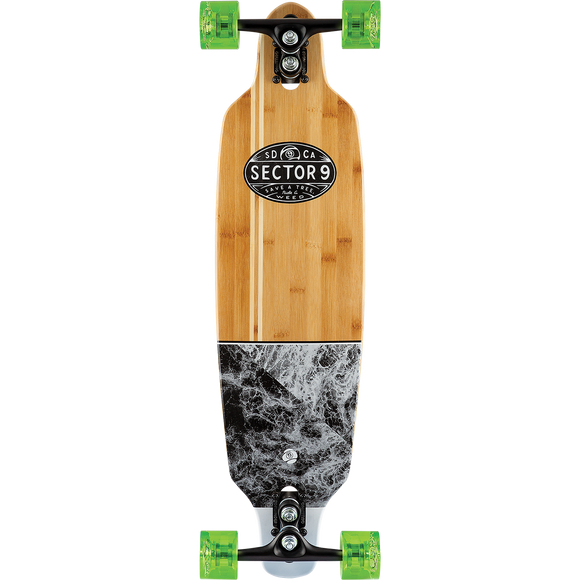 Sector 9 Bamboo Monsoon Shoots Complete Skateboard -8.7x33.5 Sdewnder