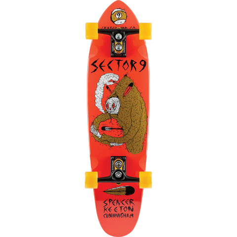 Sector 9 Skc Downfall Complete Longboard Skateboard -9x34 Red