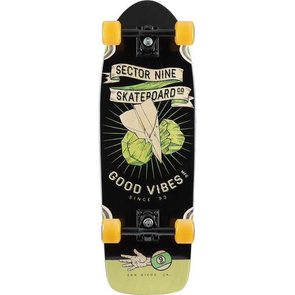 Sector 9 Roshambo Fat Wave Complete Skateboard -9.8x30