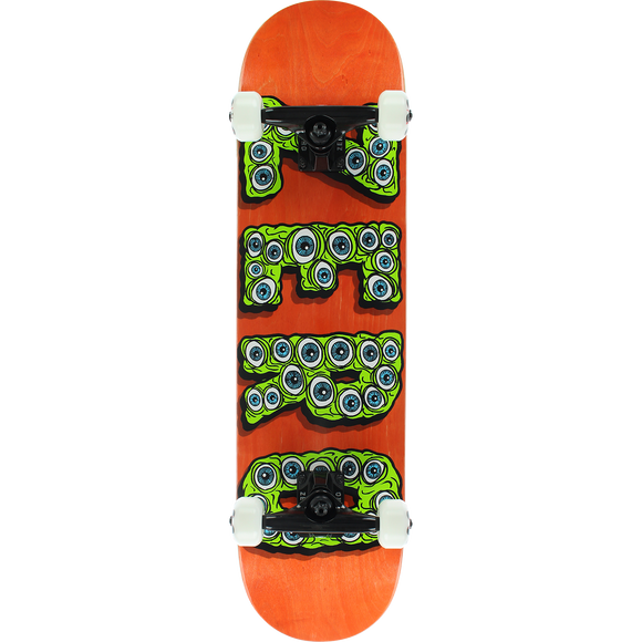 Zero Evil Eyes Complete Skateboard -7.75 Orange/Green