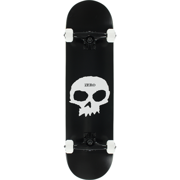 Zero Single Skull Complete Skateboard -8.0 Black/White