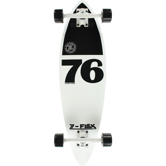 Z-Flex Mini Pin Complete Skateboard -9x32 White/Black