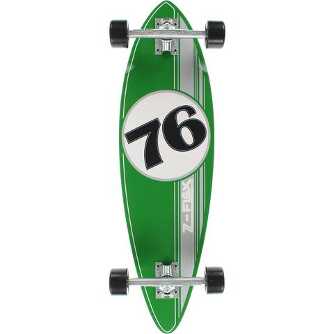 Z-Flex Mini Pin Complete Skateboard -9x32 Green/Silver/White