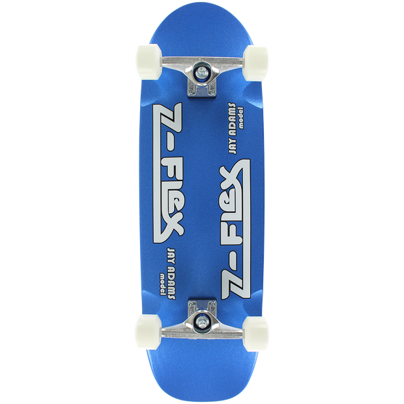 Z-Flex Adams Cruiser Complete Skateboard -9.5x32 Blue Metal Flake