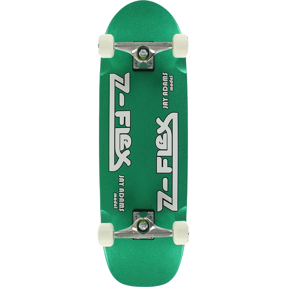 Z-Flex Adams Cruiser Complete Skateboard -9.5x32 Green Metal Flake