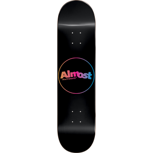 Almost Center Piece Skateboard Deck -8.0 Black