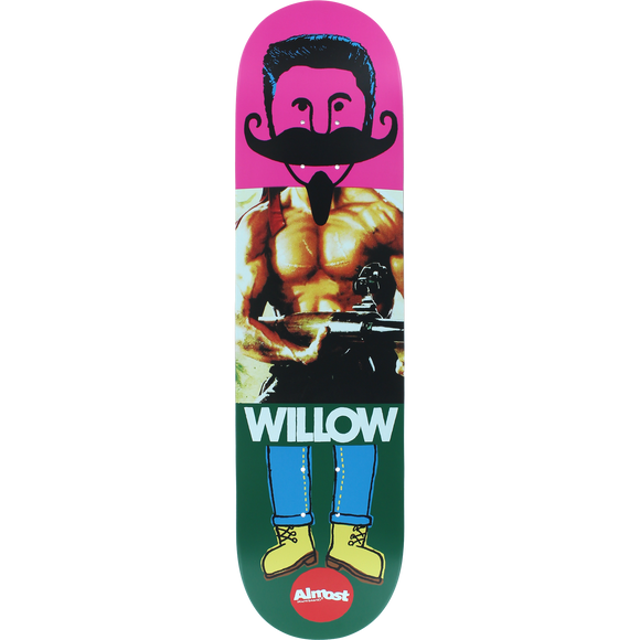 Almost Willow Remix Dude Deck -8.0 Impact Light Assembled as COMPLETE Skateboard | Universo Extremo Boards Skate & Surf